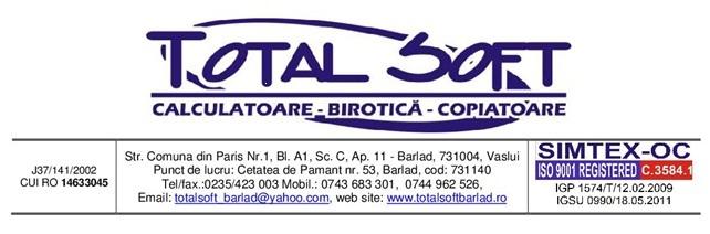 Firma Securitate Total Soft -  Barlad - Vaslui